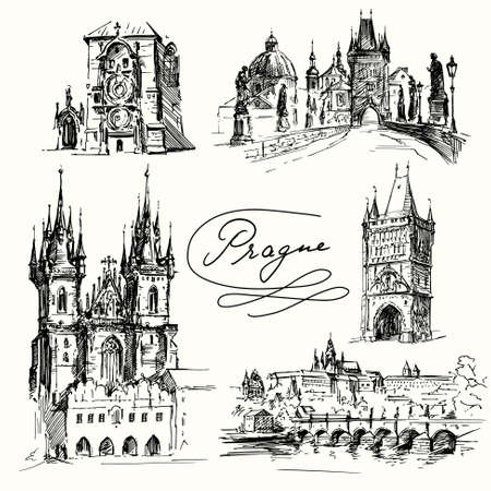 Prague  イラスト・ベクター素材