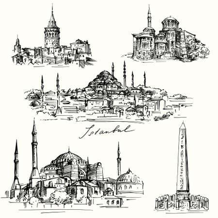 이스탄불 - 아야 소피아 일러스트