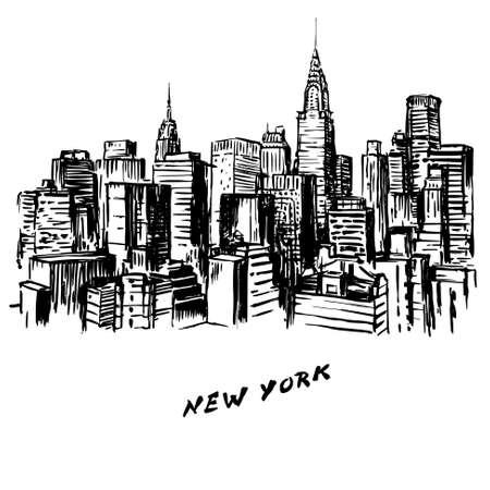New York - hand drawn illustration Vector