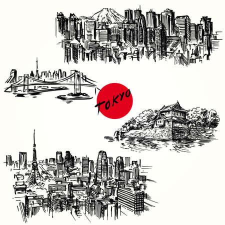 東京  イラスト・ベクター素材