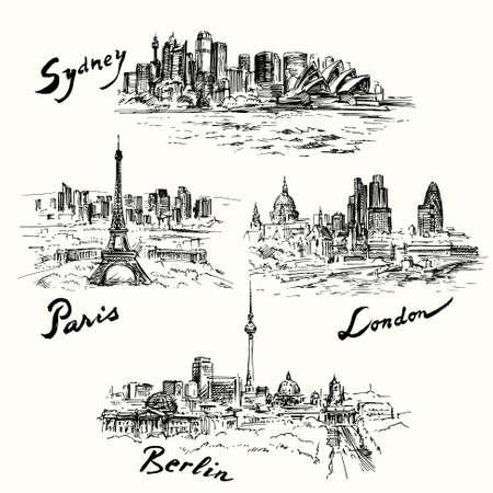 파리, 베를린, 런던, 시드니