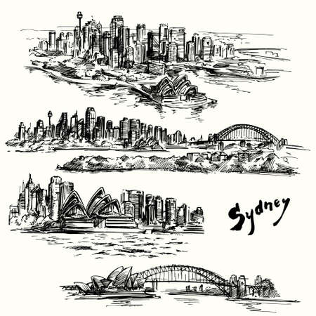 Sydney - hand drawn collection Stock Illustratie