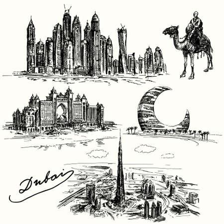 Dubai - Hand gezeichnete Sammlung