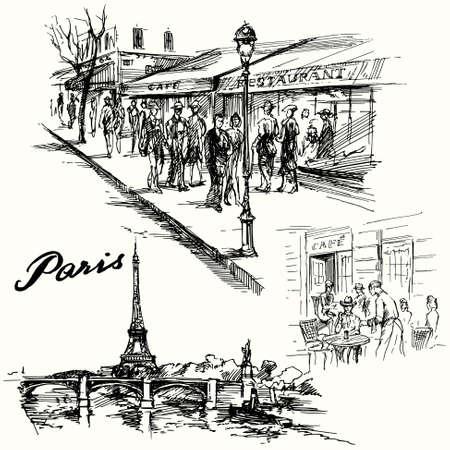 paris skyline: Paris