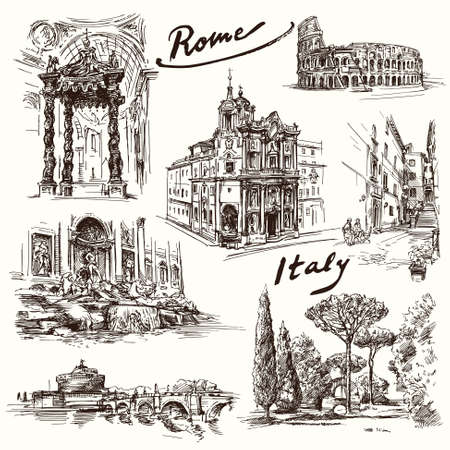 Rome - hand drawn collection