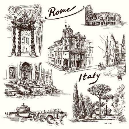 Rome - hand drawn collection Reklamní fotografie - 37679137