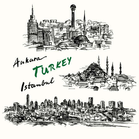 turkey: Turkey - hand drawn collection