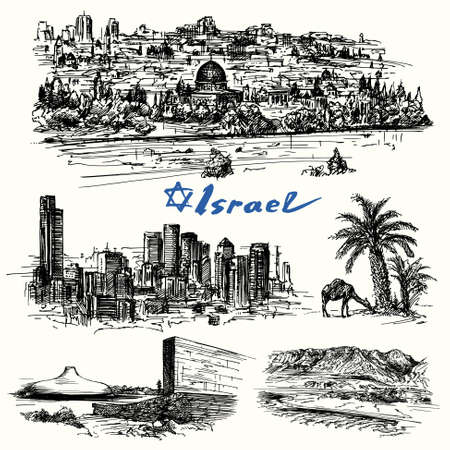 tel aviv: Israel - drawing