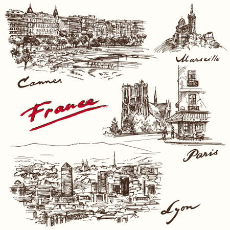 basilica: France - hand drawn collection