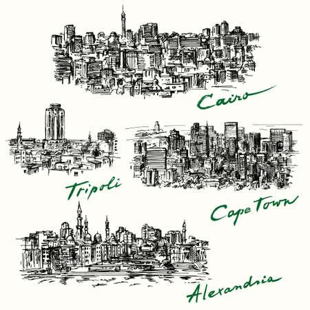 Le Caire, Tripoli, Cape Town, Alexandria
