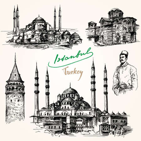 Istanbul. Hand drawn collection. Reklamní fotografie - 53158392