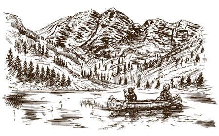 Wild west. Hand drawn illustration.