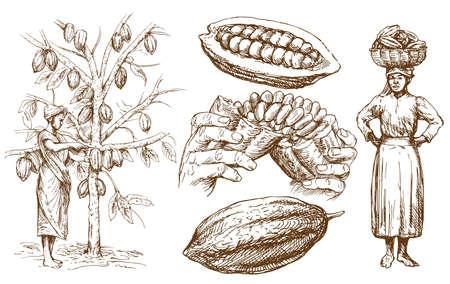 Kolekcja czekolady - ręcznie rysowane ilustracji wektorowych.