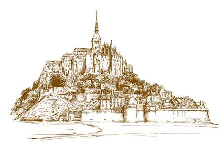 Mont Sant Michelle, France