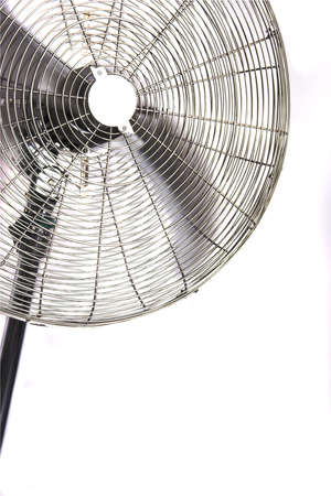 fan with rotating propeller, isolated photo