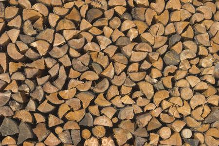 pr�cis: exactes du bois de chauffage empil�s  Banque d'images