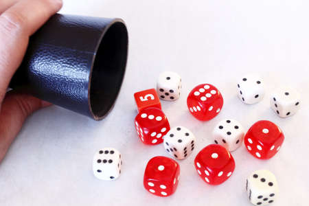 Dice game 7 - Multiple dice Stock Photo - 18358400