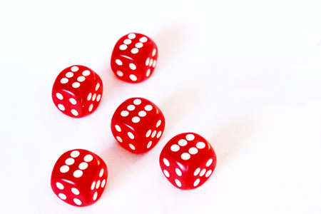 squelch: Dice game 8 - Sixes yatzhee Stock Photo
