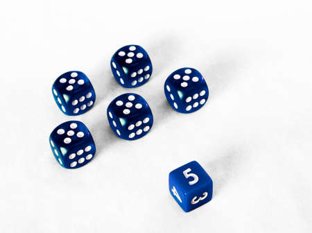 squelch: Dice game - Platoon of blue fives