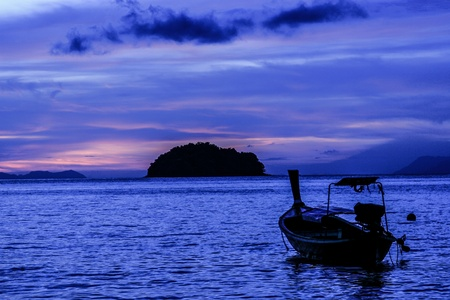 sunrise from tarutao island sourthern of thailand photo