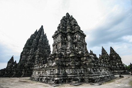jogjakarta: Candi Prambanan  in  Central Java, Indonesia Stock Photo