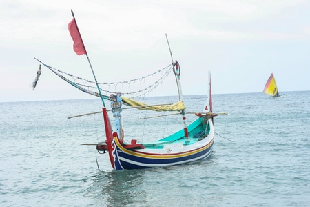 fishingboat: fishingboat indonesia style in bali indonesia