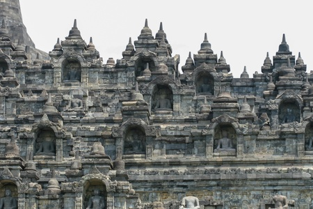 Borobudur temple buddishm in indonesia photo