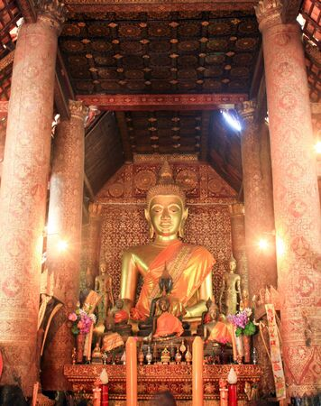 Buddha statue in temple around thailand photo
