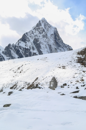 mehra peak summit beside of everest in everest trek photo