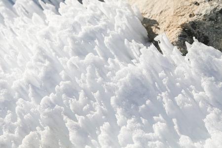 everest: snow beside of everest from everest trek nepal Stock Photo