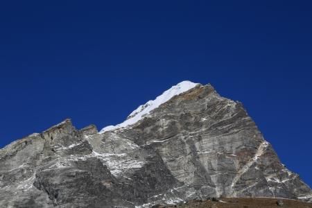 arakam tse peak beside of everest basecamp from everest trek nepal photo