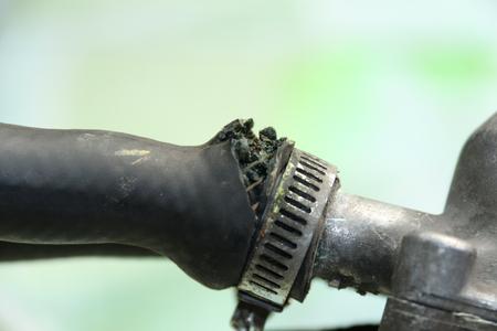 thru: radiator hose thru by pressure of hot water softfocus