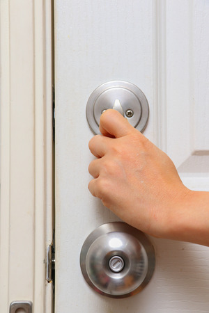 protect home: knob lock in door for protect home