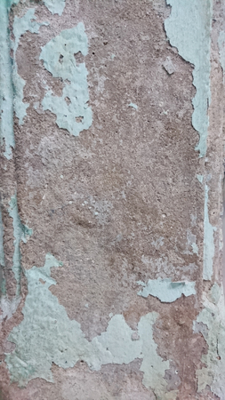 crack house: crack colour paint on wall after flood in house