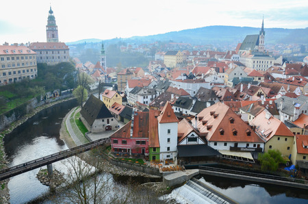 krumlov: cesky krumlov on viewpoint from czechia