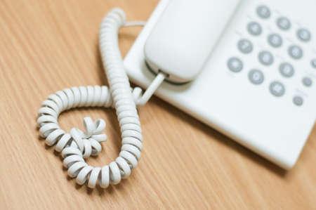 Heart shaped telephone line