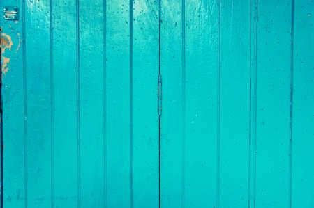 Cyan wooden door pattern
