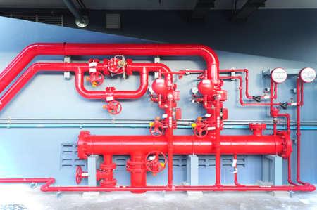 Water sprinkler and fire alarm system, water sprinkler control system Banque d'images