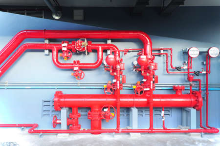 Water sprinkler and fire alarm system, water sprinkler control system 免版税图像