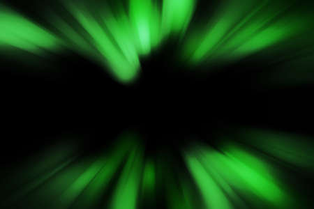 aurora: Abstract blurred green aurora zoom nothern lights concept Stock Photo