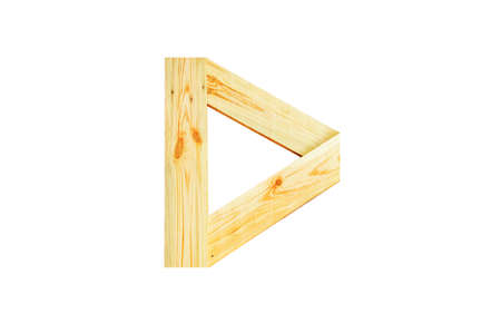 d: D, One letter of wooden alphabet isolated on white Stock Photo