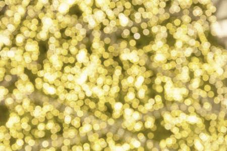 editable: Yellow gold abstract blur bokeh Background , Defocused light