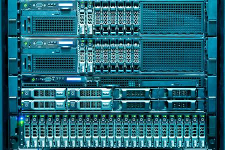 Technologie van de computer server in het datacenter van
