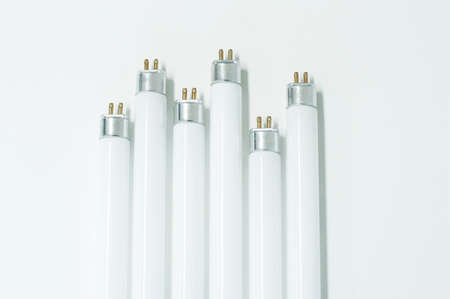 fluorescence: LED fluorescence tube isolated