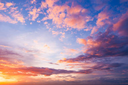 cielo crepuscular agradable y podía Foto de archivo
