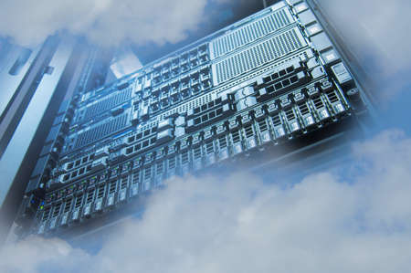 raid: Cloud Servers Computing technology in datacenter creative concept Stock Photo
