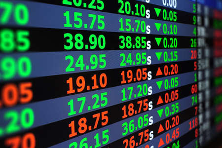 Display of stock exchange market quotes