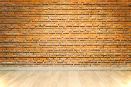 dirty room: Vintage or Retro brick wall and wood floor in loft style decorative in house office or shopping mall