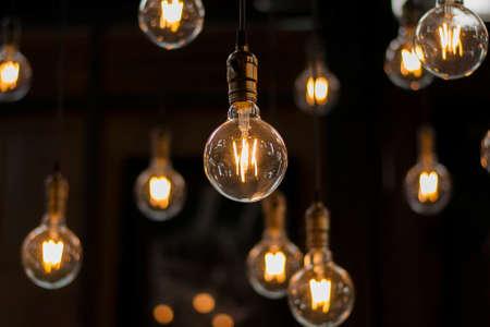 Luxury beautiful retro or vintage old style light bulb decor