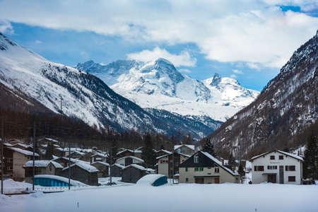 Beautiful village of Zermatt with Matterhorn in the background, Switzerland